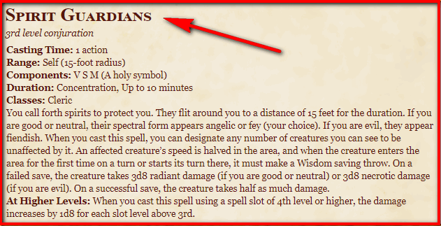Spirit Guardians 5e