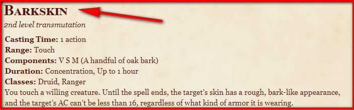 Barkskin 5e