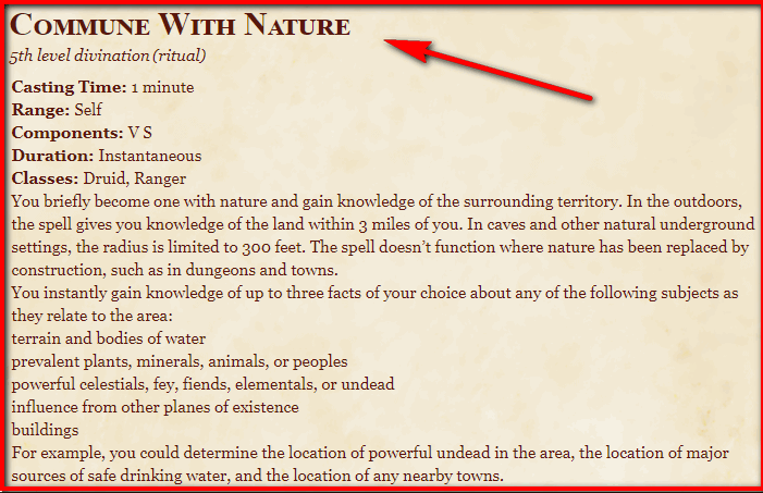Commune with Nature 5e