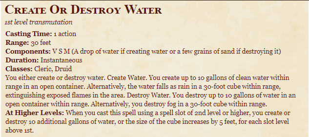 Create or Destroy 5e