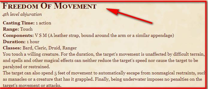 Freedom of Movement 5e