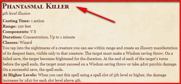 Phantasmal Killer 5e