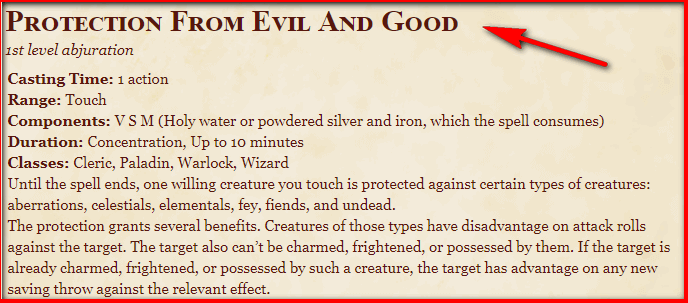 Protection from Evil and Good