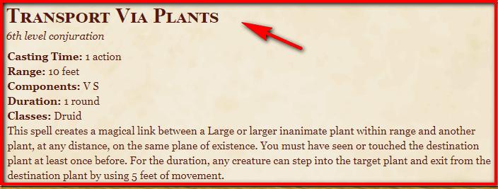 Transport via Plants 5e
