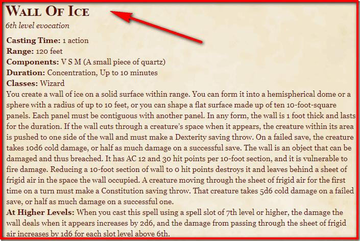 Wall of Ice 5e